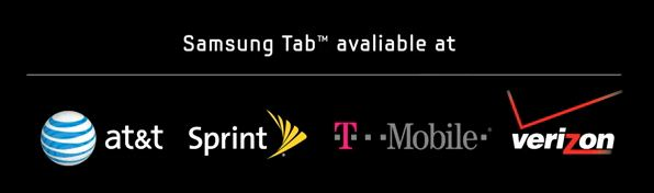 Samsung Galaxy Tab Available