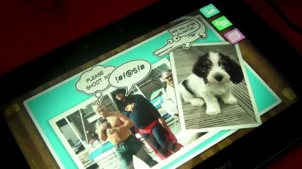 BlackBerry PlayBook Scrapbook App Demo