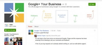 Google+ Pages Layout