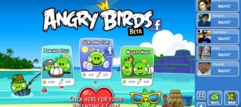 Angry Birds for Facebook valentine