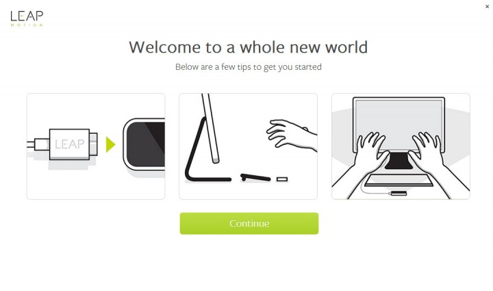 Leapmotion-welcome