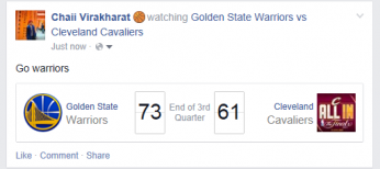 Facebook Post Basketball feed